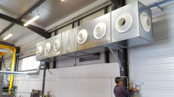 Adiabatic cooling system with supply air nozzle of the building (Adexsi's news)